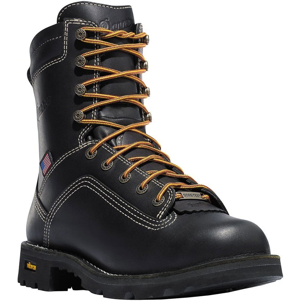 Image for Danner Men's Quarry Alloy USA Safety Boots - Black from bootbay