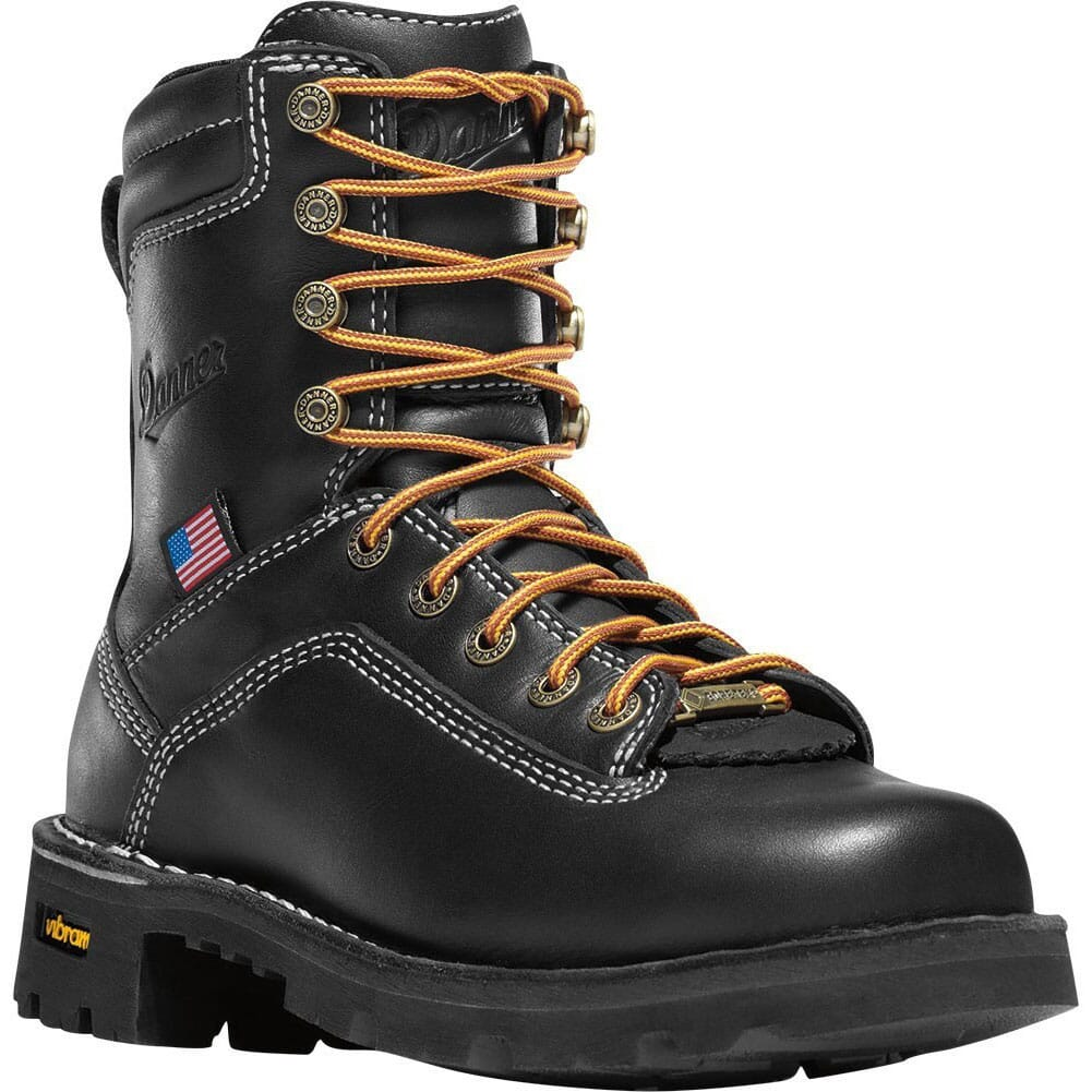 Image for Danner Women's Quarry 7IN BLK Work Boots - Black from bootbay