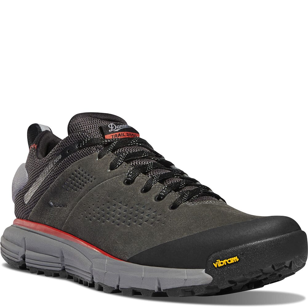 Image for Danner Men's Trail 2650 GTX Hiking Shoes - Dark Gray/Brick Red from bootbay