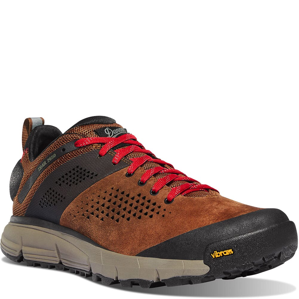 Image for Danner Men's Trail 2650 Hiking Shoes - Brown/Red from bootbay