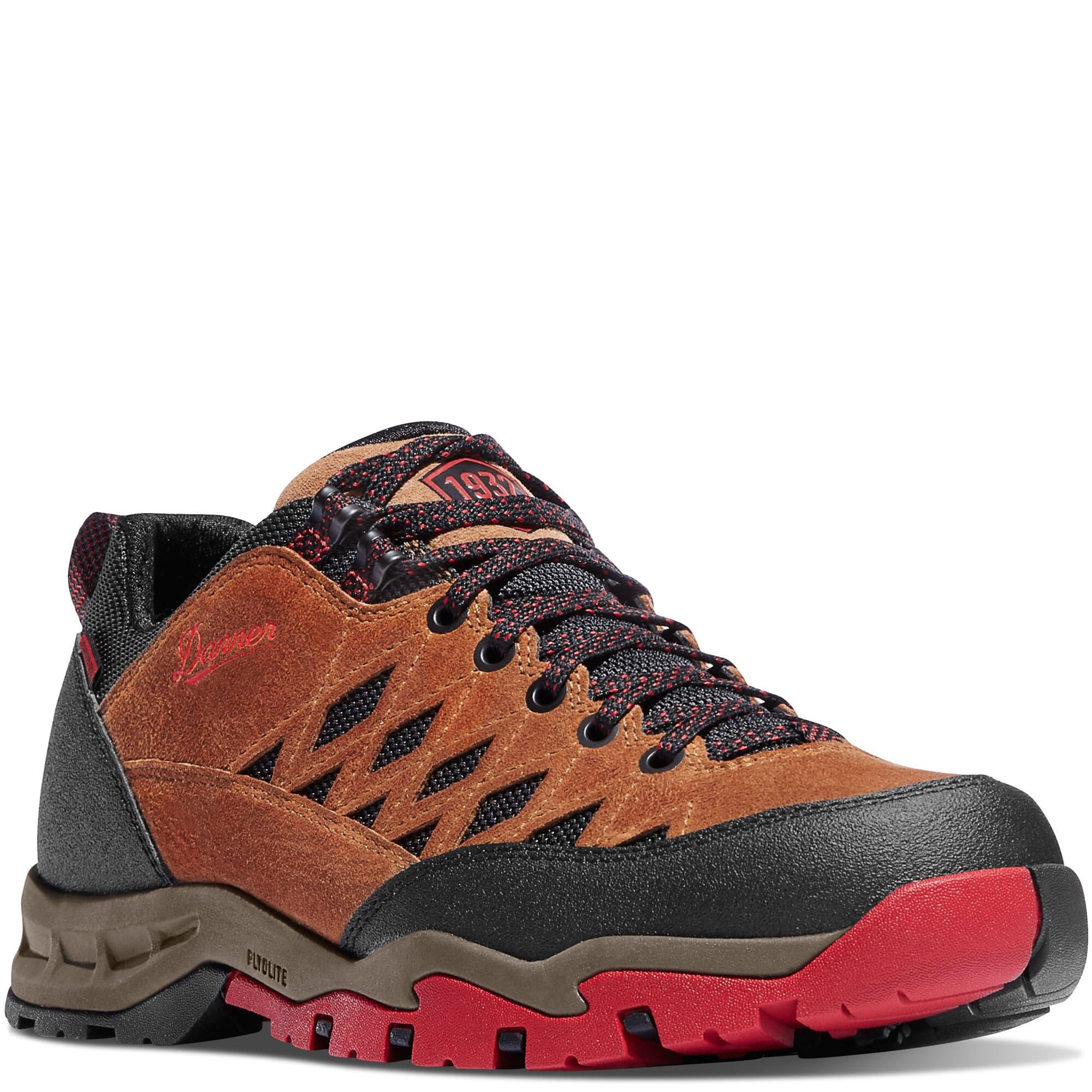 Image for Danner Men's TrailTrek Hiking Boots - Brown/ Red from bootbay
