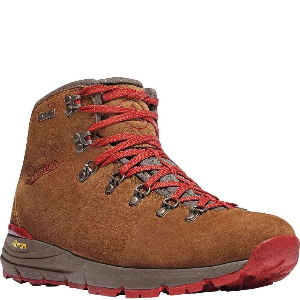 Image for Danner Men's Mountain 600 Hiking Boots - Brown/Red from bootbay