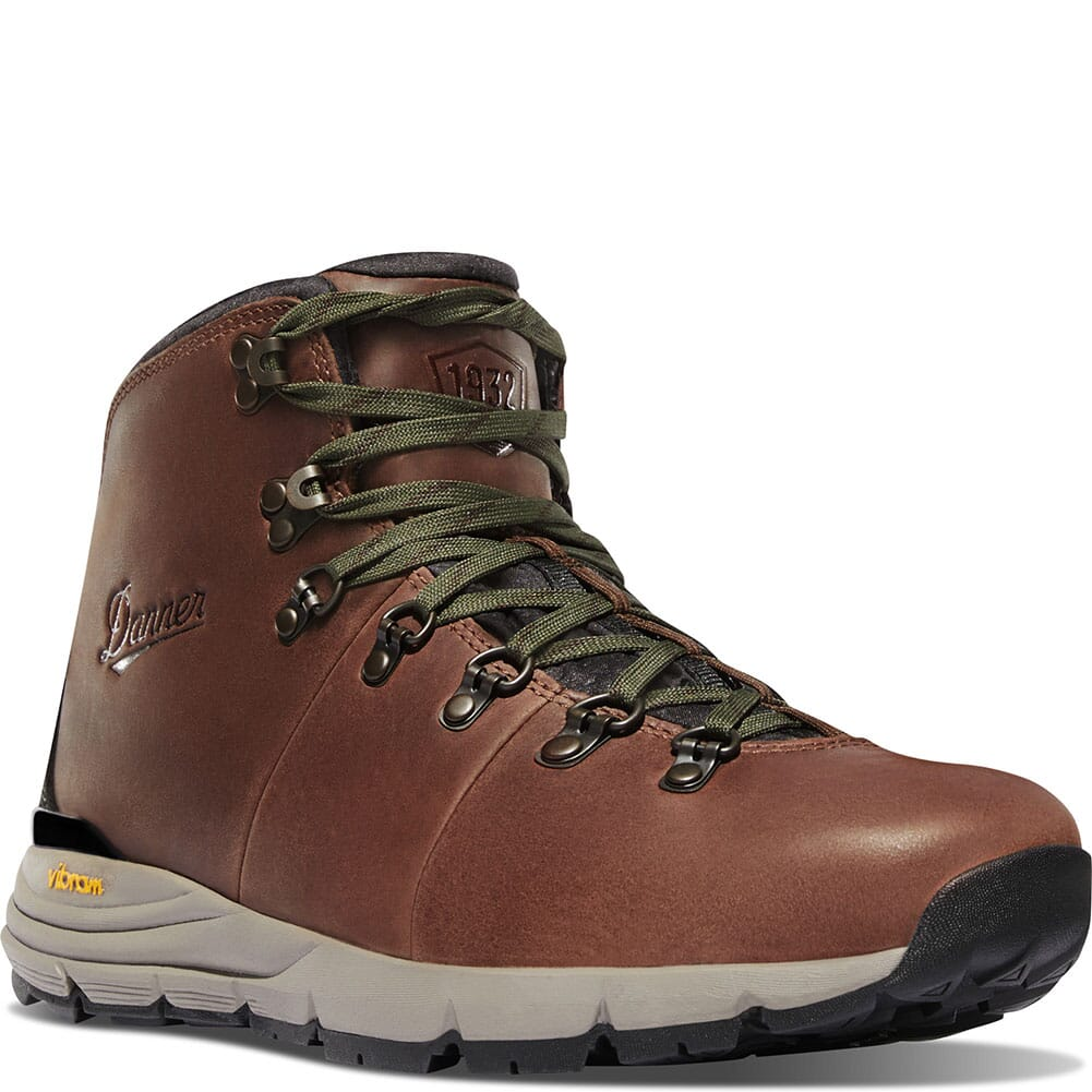 Image for Danner Men's Mountain 600 Waterproof Hiking Boots - Walnut/Green from bootbay