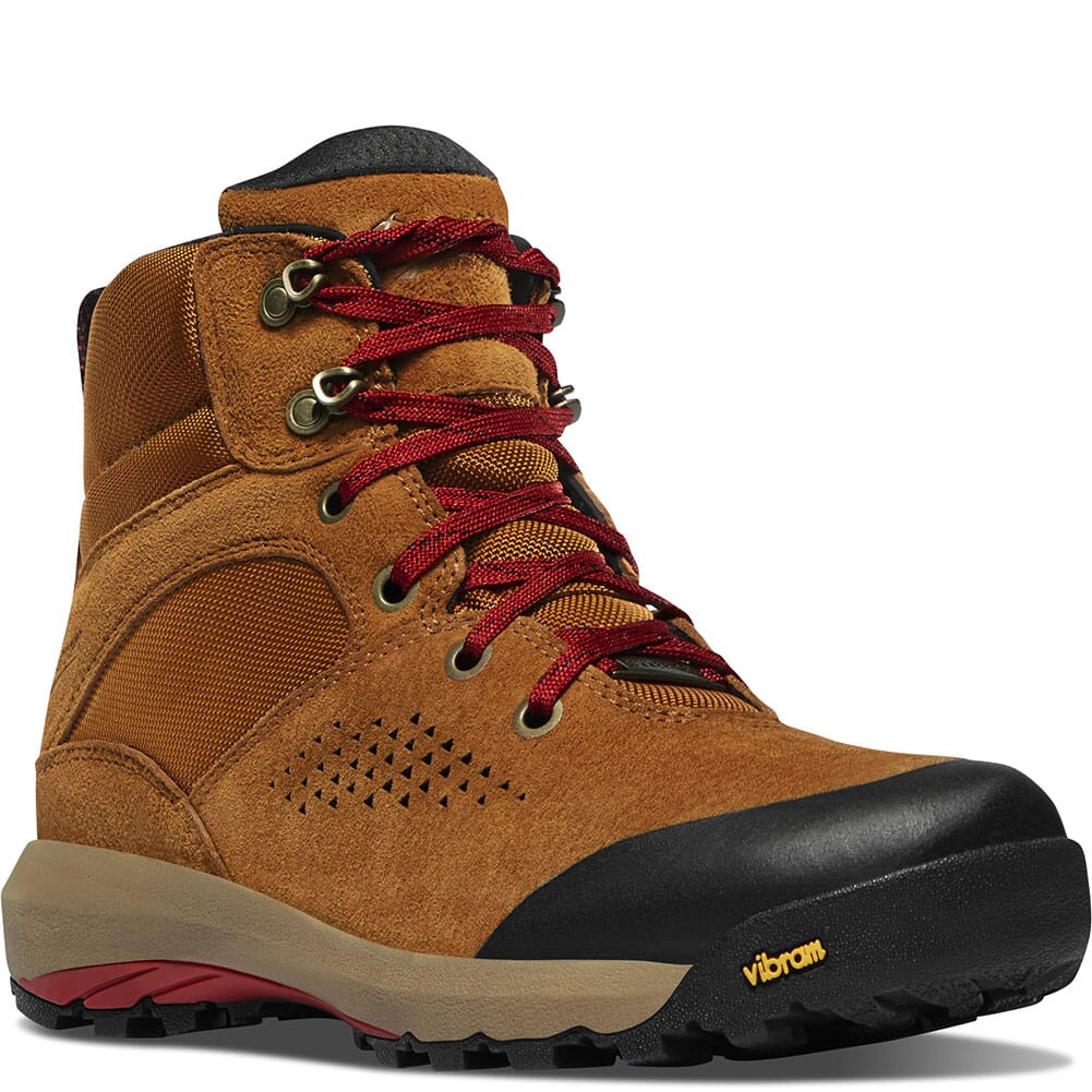 Image for Danner Women's Inquire Mid WP Hiking Boots - Brown/Red from elliottsboots