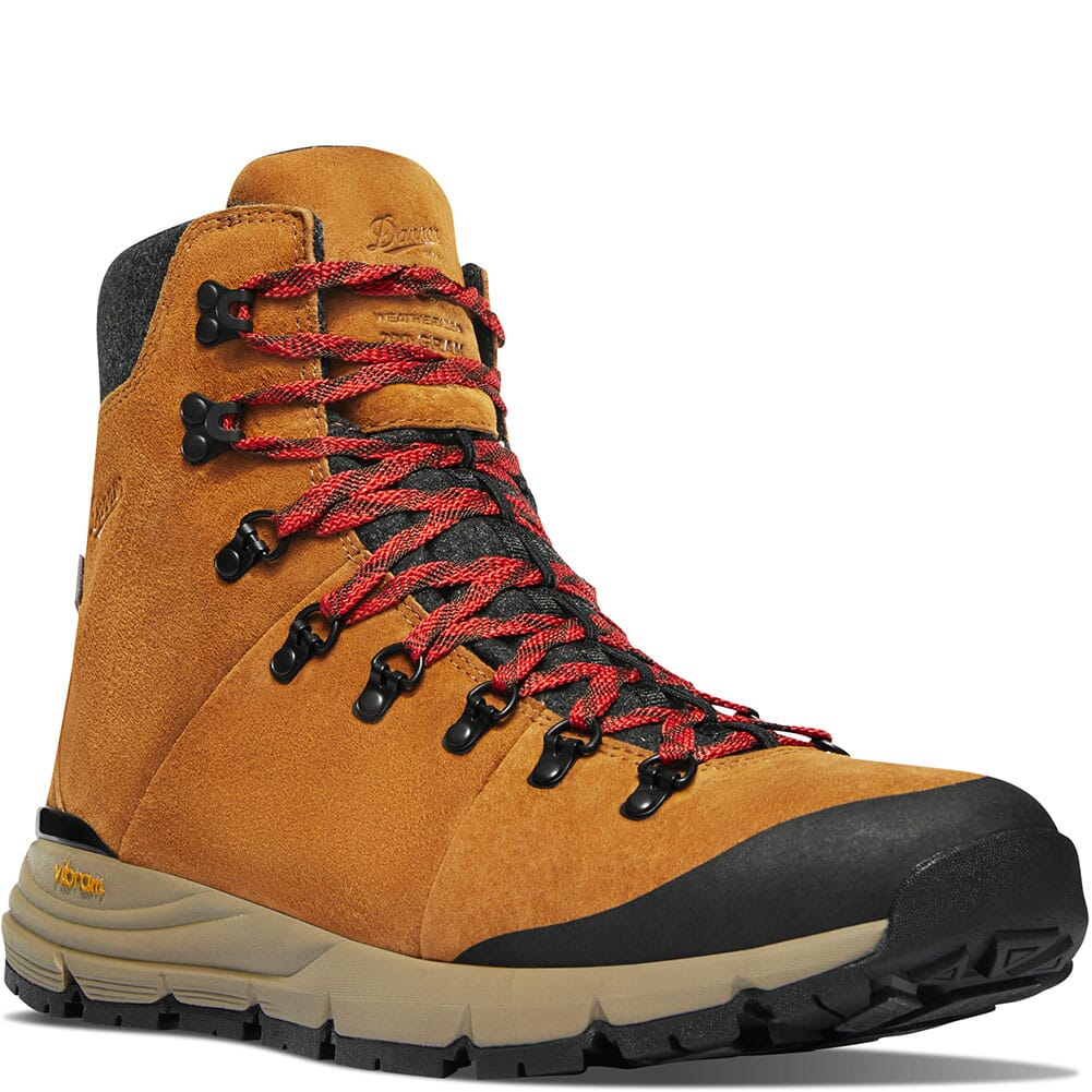 Image for Danner Men's Arctic 600 Side-Zip Hiking Boots - Brown/Red from bootbay