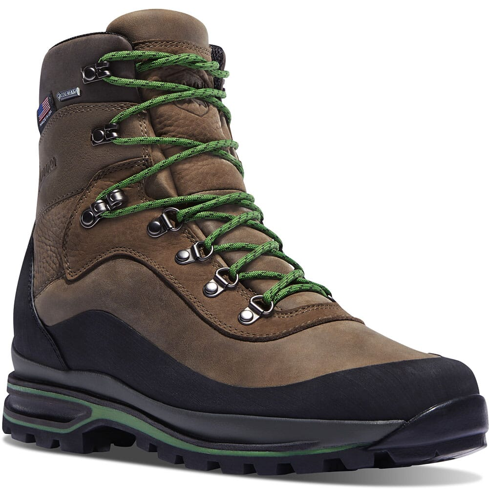 Image for Danner Men's CRAG RAT USA Hiking Boots - Brown/Green from bootbay