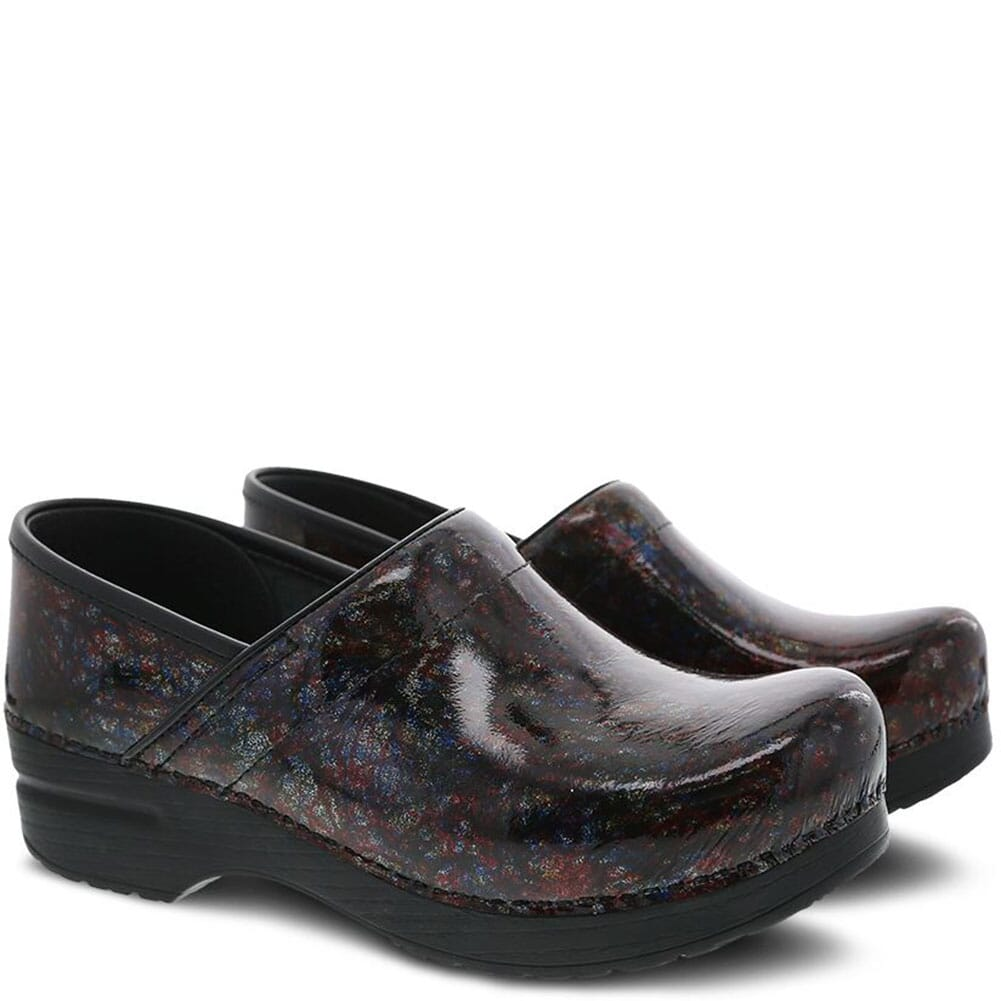 Image for Dansko Women's Professional Clogs - Multi Scribble Patent from elliottsboots