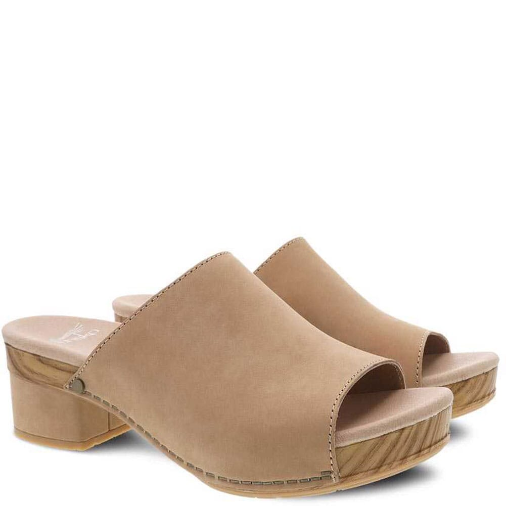 Image for Dansko Women's Maci Milled Nubuck Sandals - Honey from bootbay