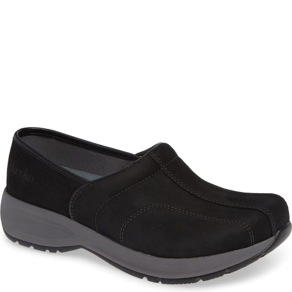 Image for Dansko Women's Shaina Uniform Shoes - Black Tumbled from elliottsboots