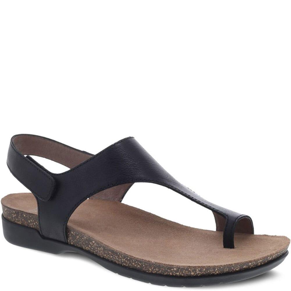 Image for Dansko Women's Reece Sandals - Black Waxy Burnished from elliottsboots