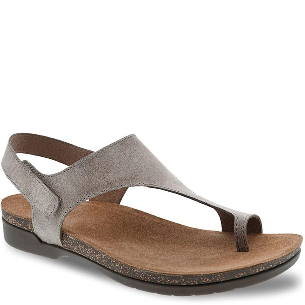 Image for Dansko Women's Reece Sandals - Stone Waxy Burnished from elliottsboots