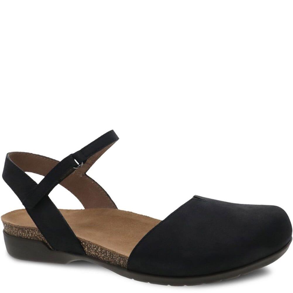 Image for Dansko Women's Rowan Sandals - Black Nubuck from bootbay