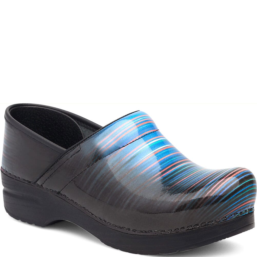 Image for Dansko Women's Professional Clogs - Faded Stripe Patent from elliottsboots