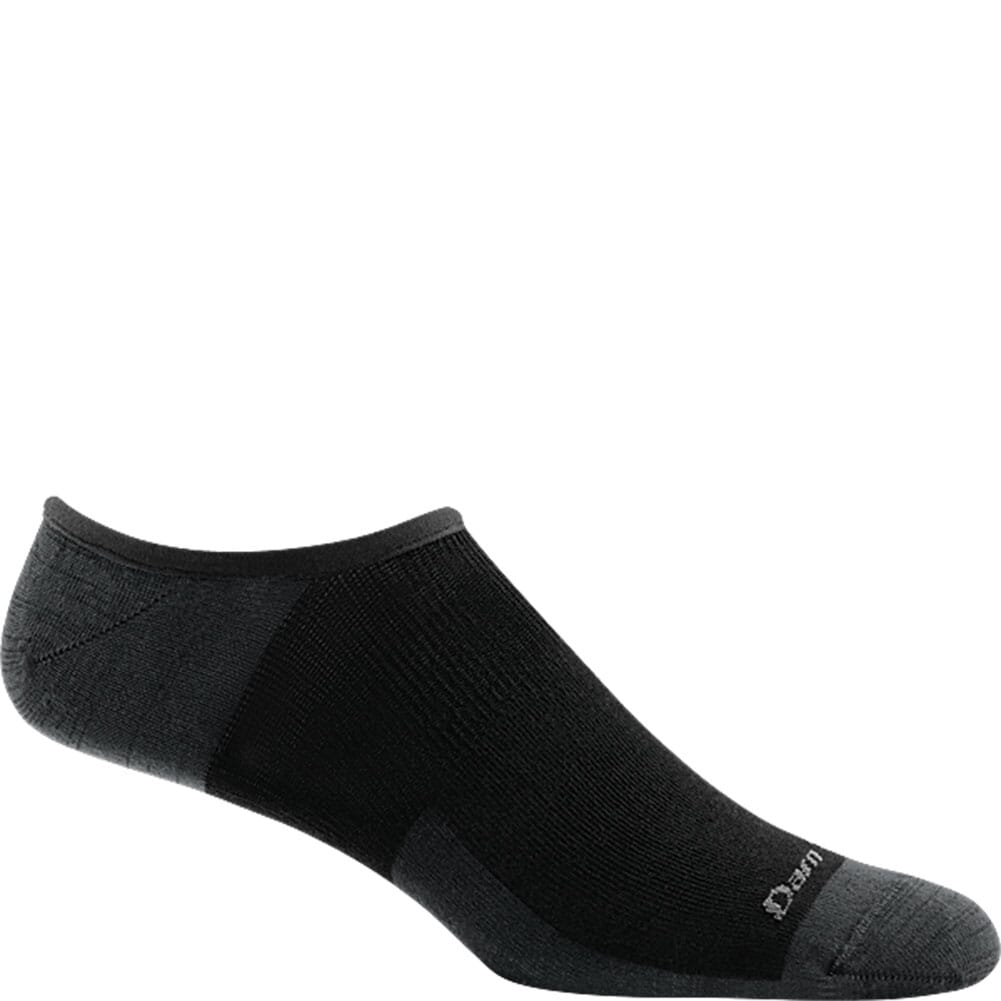 Image for Darn Tough Men's Topless Solid No Show Hidden Socks - Black from bootbay
