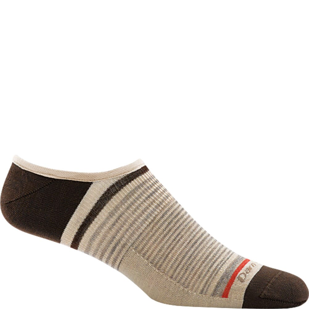 Image for Darn Tough Men's Topless Stripe No Show Hidden Socks - Brown from bootbay