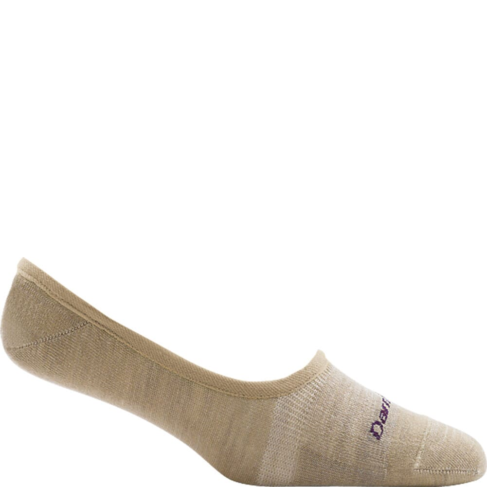 Image for Darn Tough Women's Solid Top Down No Show Invisible Socks - Oatmeal from bootbay