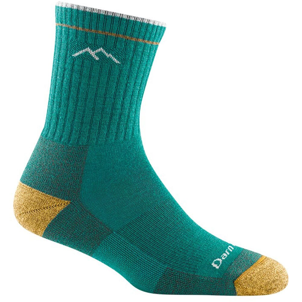 Image for Darntough Women's Micro Crew Cushion Socks - Teal from bootbay