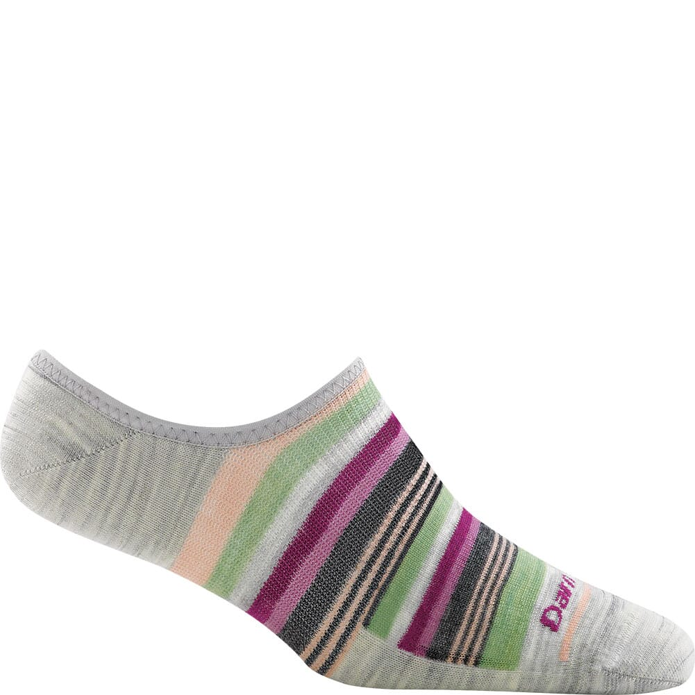 Image for Darn Tough Women's Topless Multi Stripe No Show Hidden Socks - Ash from bootbay