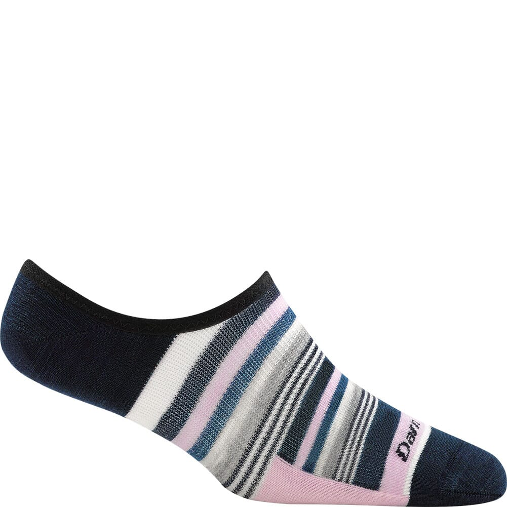 Image for Darn Tough Women's Topless Multi Stripe No Show Hidden Socks - Navy from bootbay