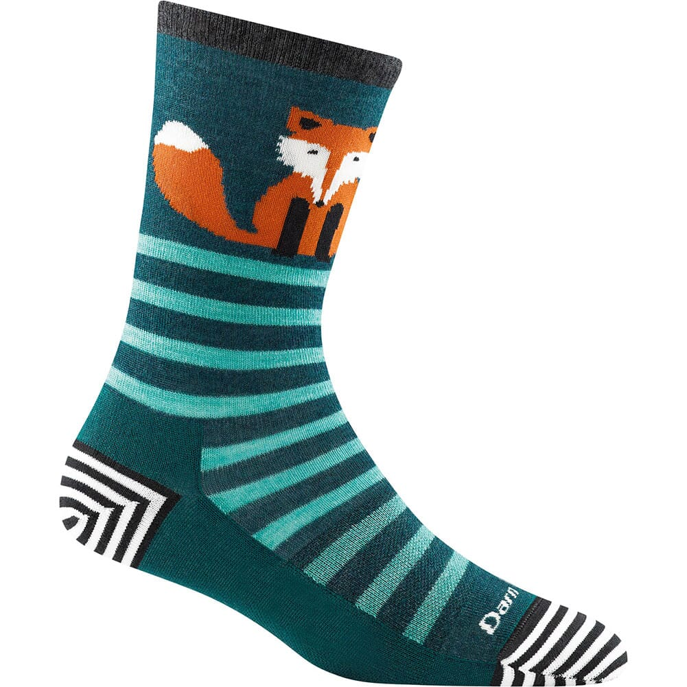 Image for Darntough Women's Animal Haus Crew Light Socks - Dark Teal from bootbay