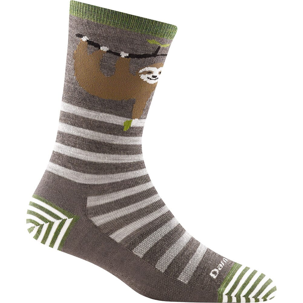 Image for Darntough Women's Animal Haus Crew Light Socks - Taupe from bootbay