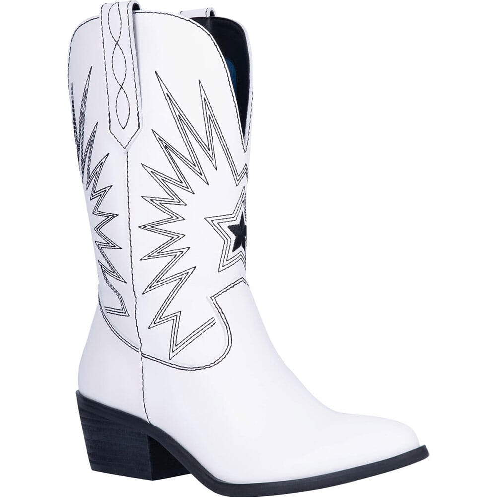 Image for Dingo Women's Rockstar Western Boots - White from elliottsboots
