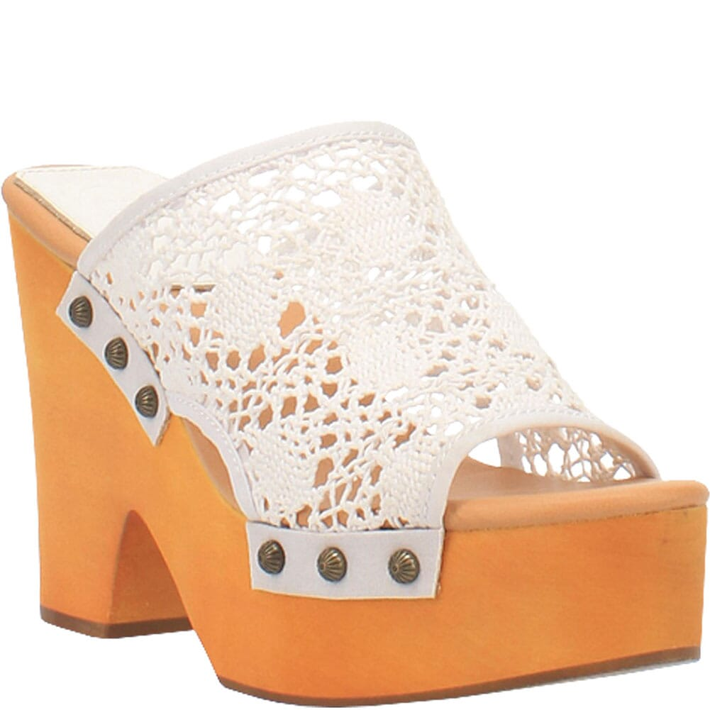 Image for Dingo Women's Crafty Woven Sandals - White from elliottsboots