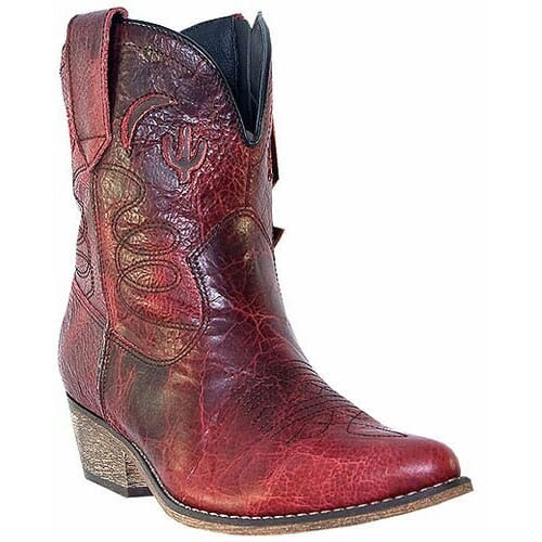 Image for Dingo Women's Adobe Rose Western Boots - Red from elliottsboots
