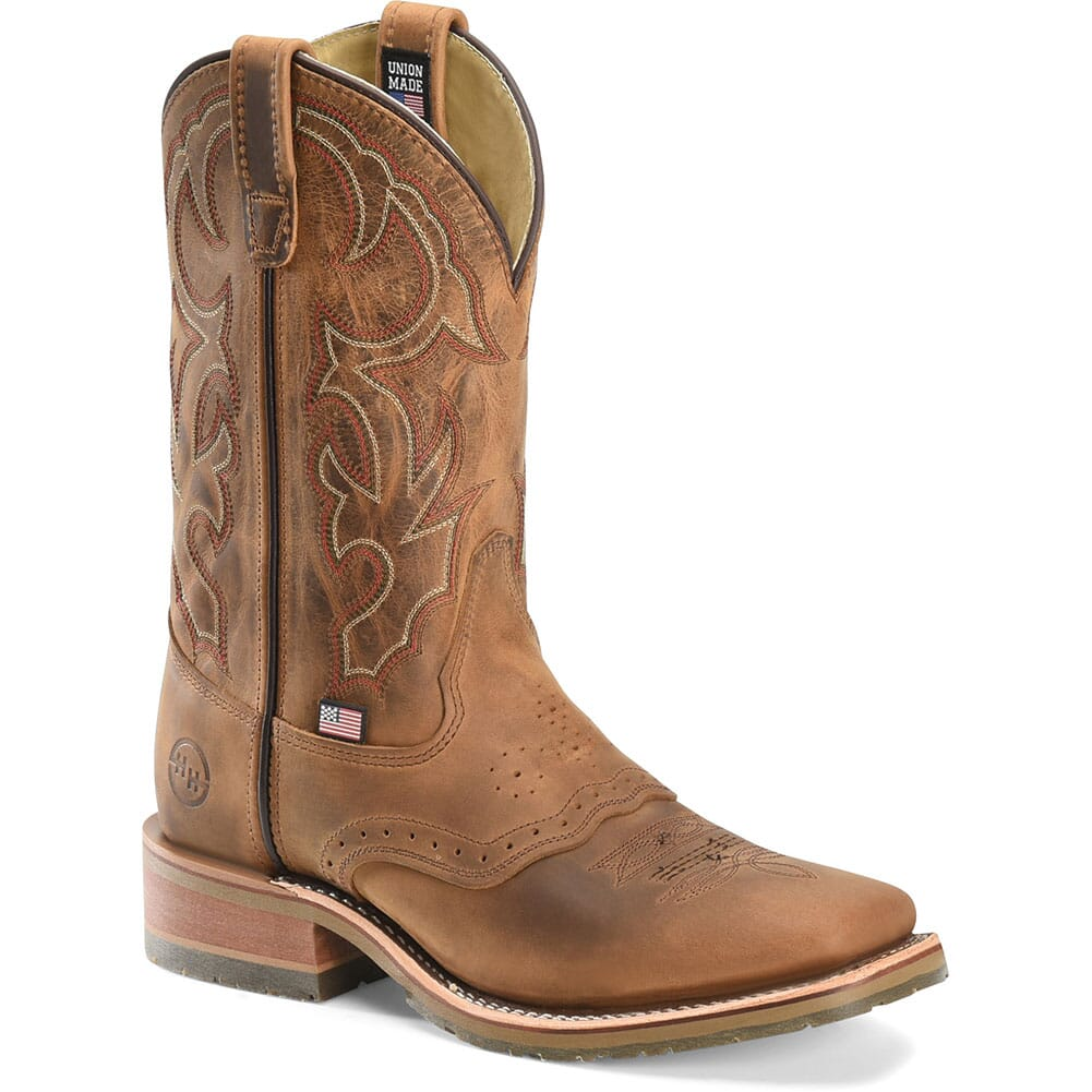 Image for Double H Men's Square Toe Western Ropers - Brown from bootbay