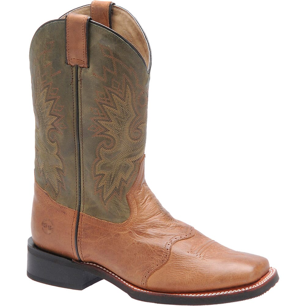 Image for Double H Men's Natural Leather Roper - Cognac/Olive from bootbay