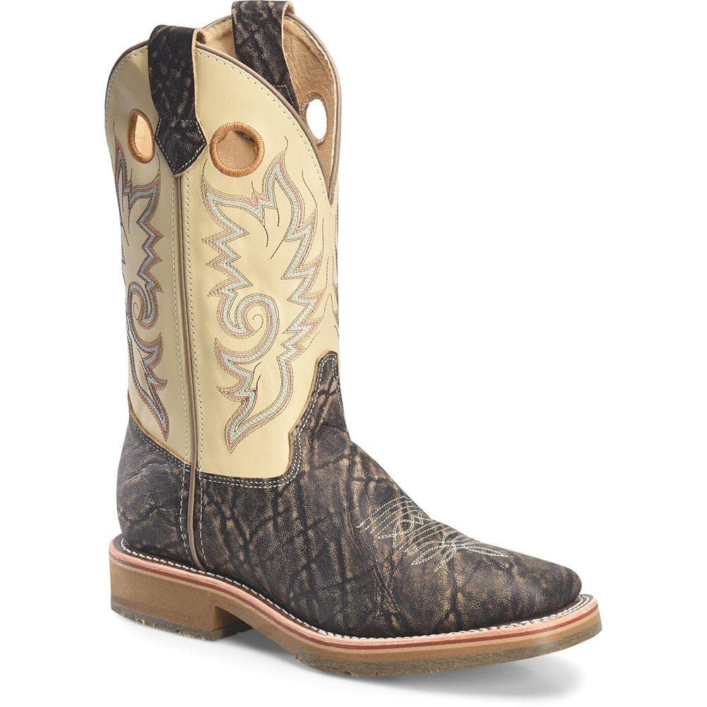 Image for Double H Men's Domestic ICE Work Ropers - Cream Nappa from bootbay