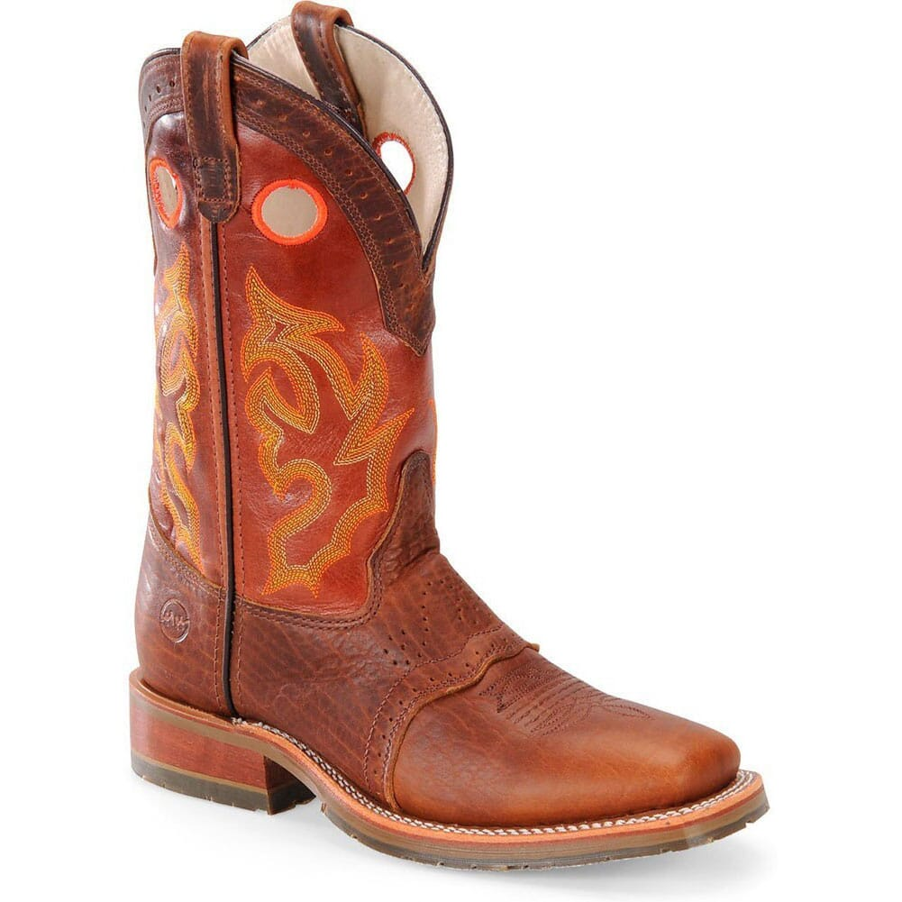 Image for Double H Men's Bison ICE Western Ropers - Peanut from bootbay