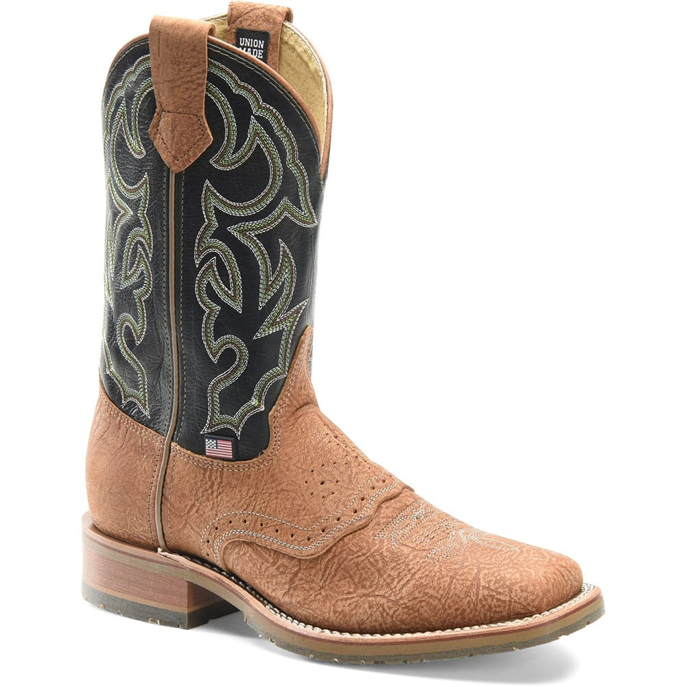 Image for Double H Men's Max Western Ropers - Brown/Frida Green from bootbay
