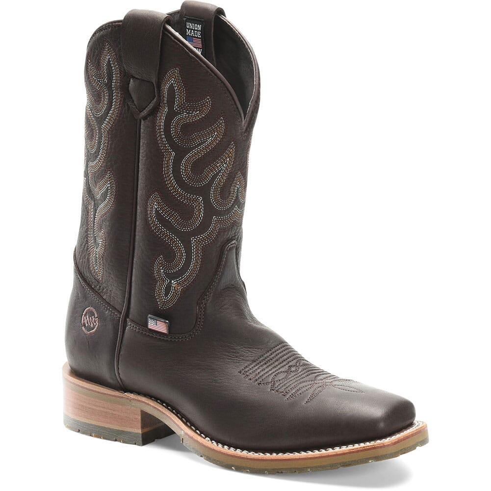 Image for Double H Men's Augustus Western Ropers - Chocolate from bootbay