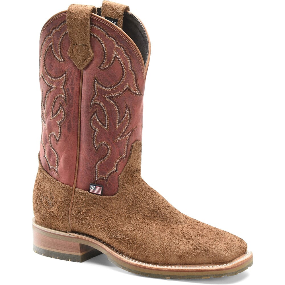 Image for Double H Men's Odessa Western Ropers - Red/Brown from bootbay