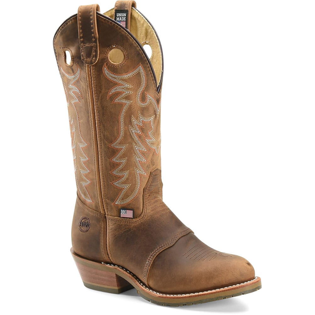 Image for Double H Women's Domestic ICE Western Buckaroos Boots - Brown from bootbay