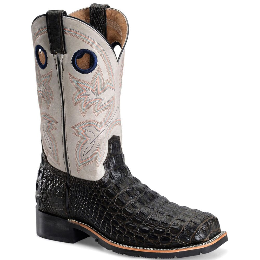 Image for Double H Men's Caiman Print Safety Ropers - Chocolate from bootbay