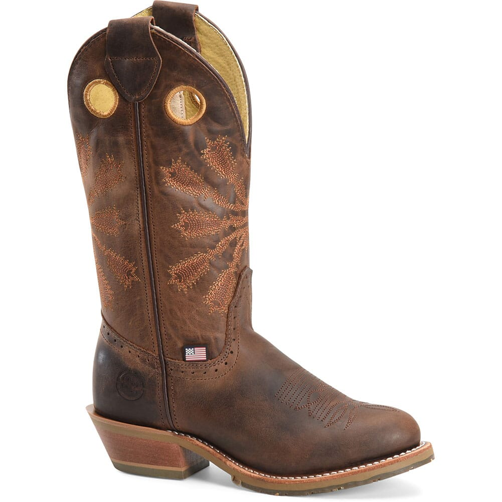 Image for Double H Men's Arvada Western Boots - Brown from bootbay