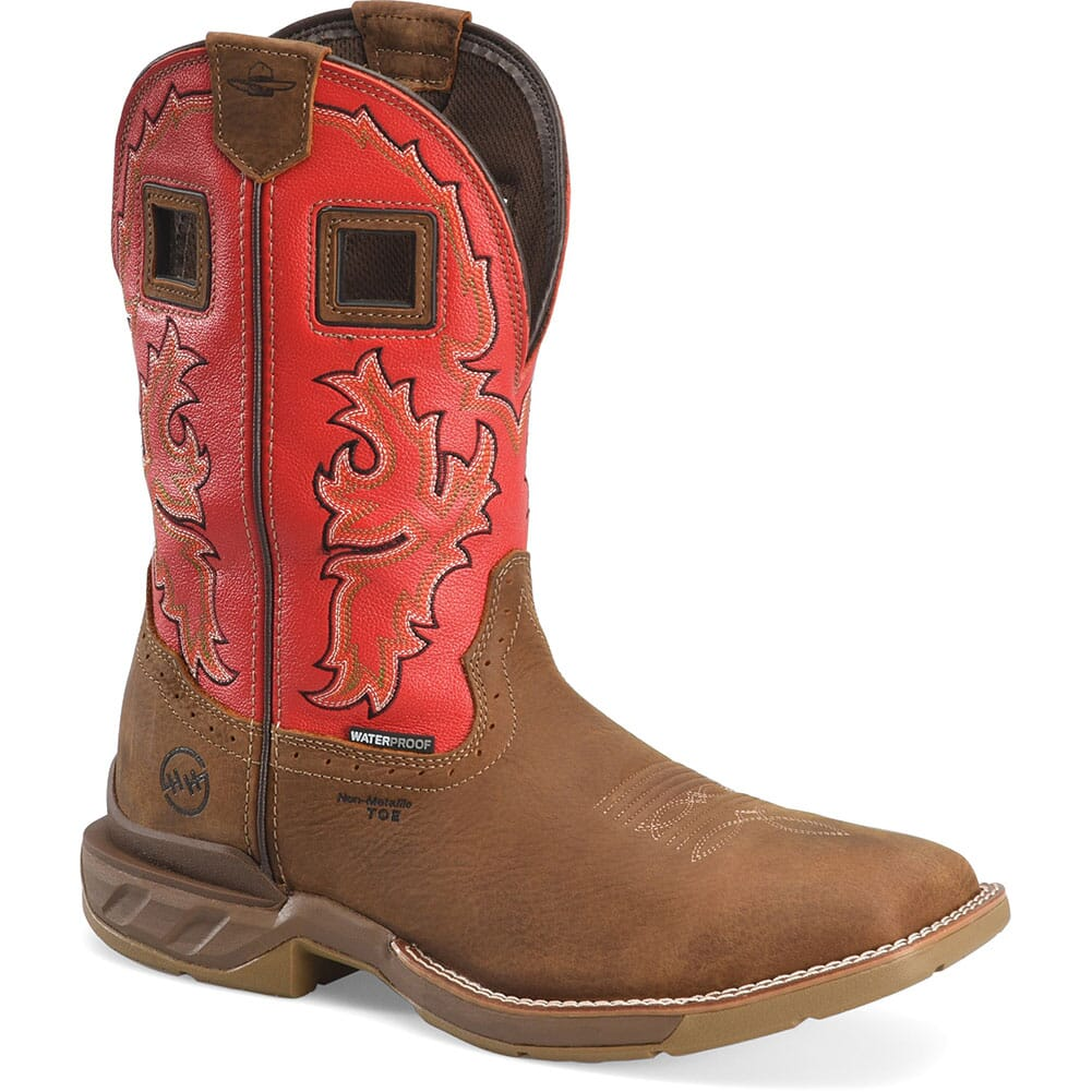 Image for Double H Men's Henly Safety Ropers - Goji Berry/ Real Brown from bootbay