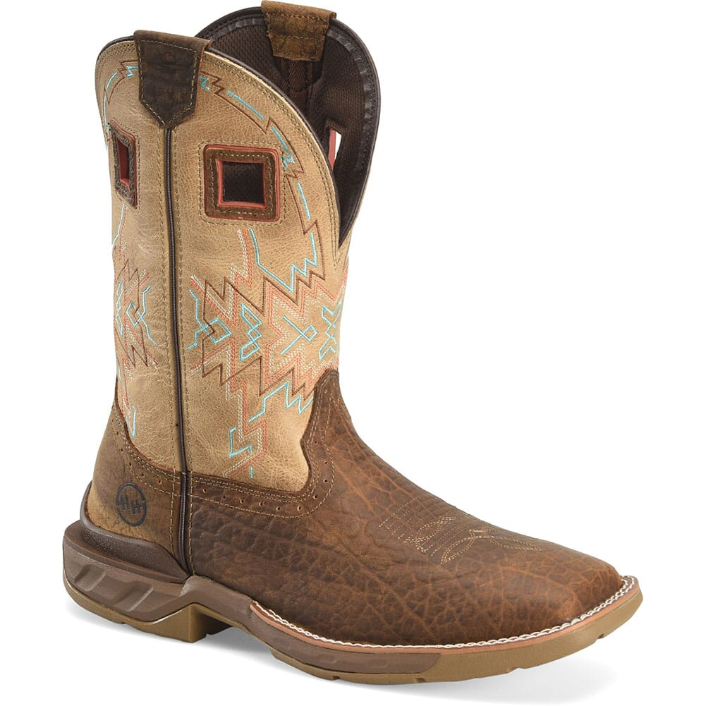 Image for Double H Men's Clem Work Ropers - Revel Oatmeal/Buffalo from bootbay