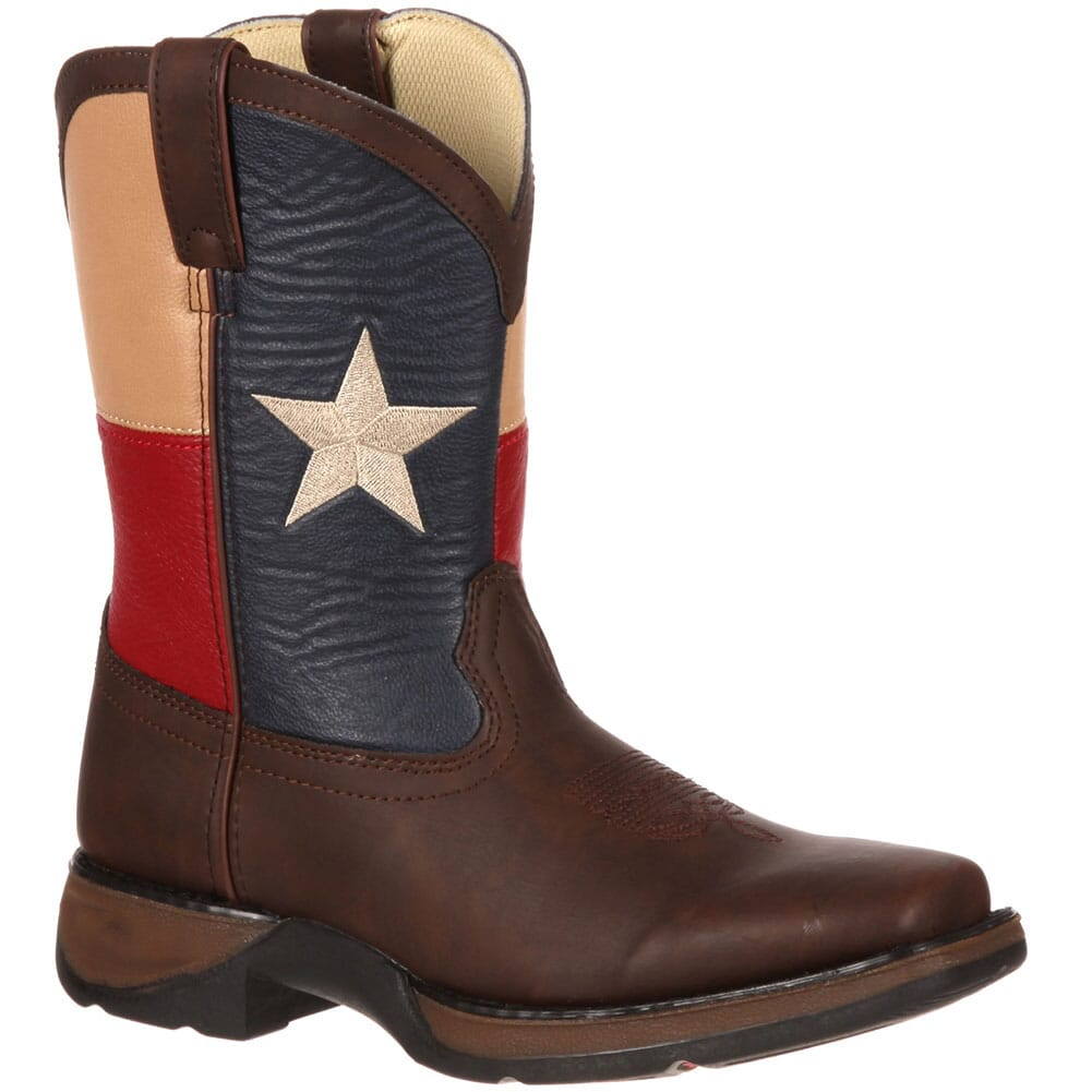 Image for Lil' Durango Kids' Texas Flag Western Boots - Brown from bootbay