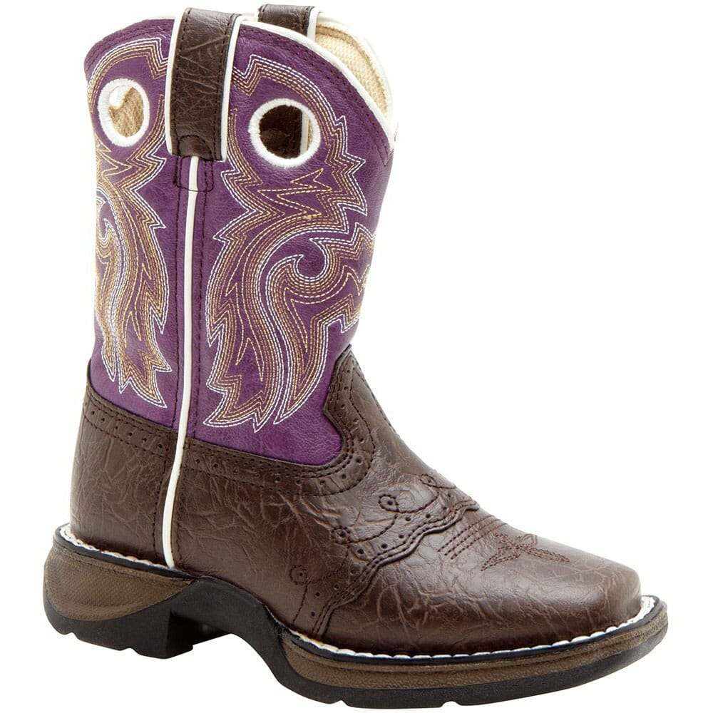 Image for Li'l Durango Girl's Flirt Lacey Western Boots - Purple from bootbay