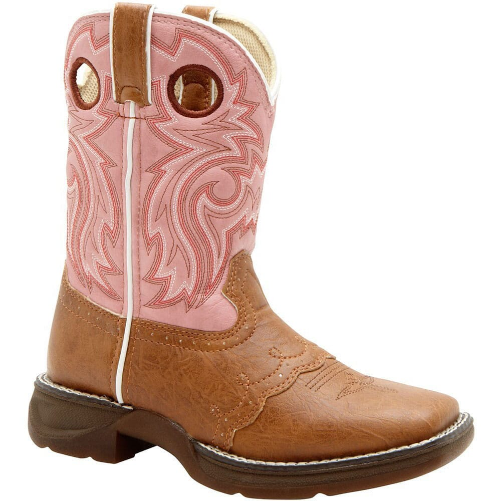 Image for Lil' Durango Girl's Lacey Flirt Western Boots - Tan/Pink from bootbay