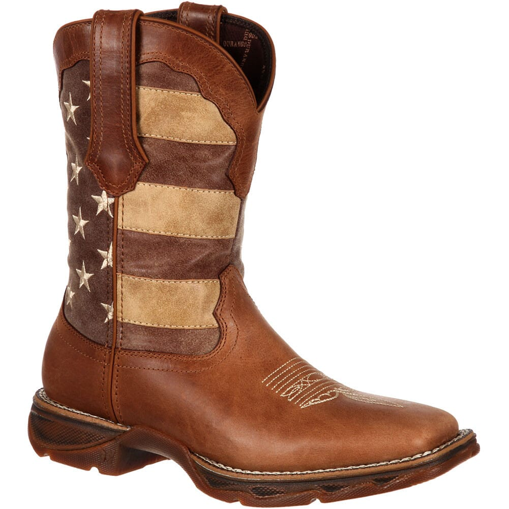 Image for Durango Women's Faded Union Flag Western Boots - Brown from bootbay