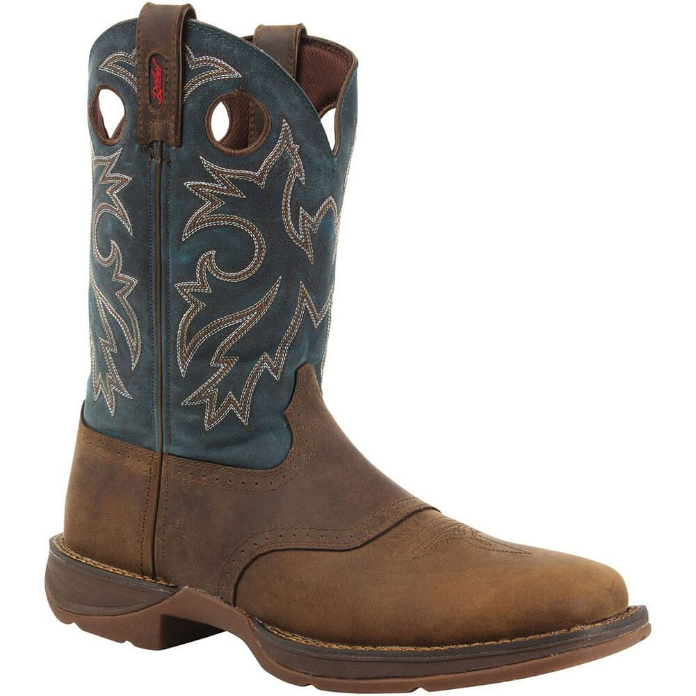 Image for Durango Men's Rebel Pull-On Western Boots - Tan/Navy from bootbay