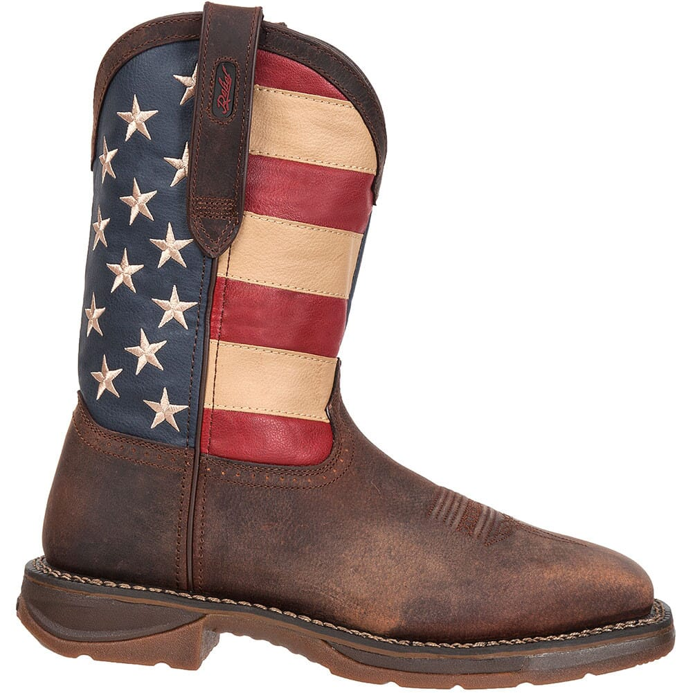 Image for Durango Men's American Flag Safety Boots - Brown from bootbay