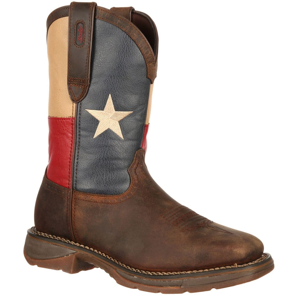 Image for Durango Men's Texas Flag Safety Boots - Brown from bootbay