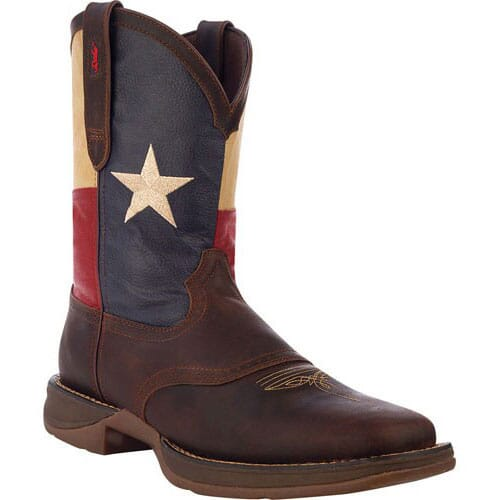 Image for Durango Men's Patriotic Square Toe Western Boots - Brown from bootbay