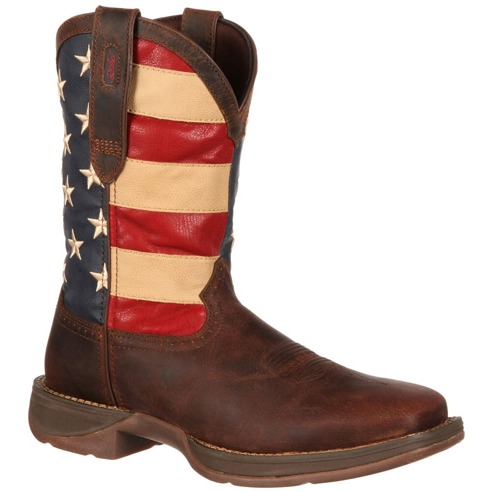 Image for Durango Men's Patriotic Western Boots - Brown from bootbay