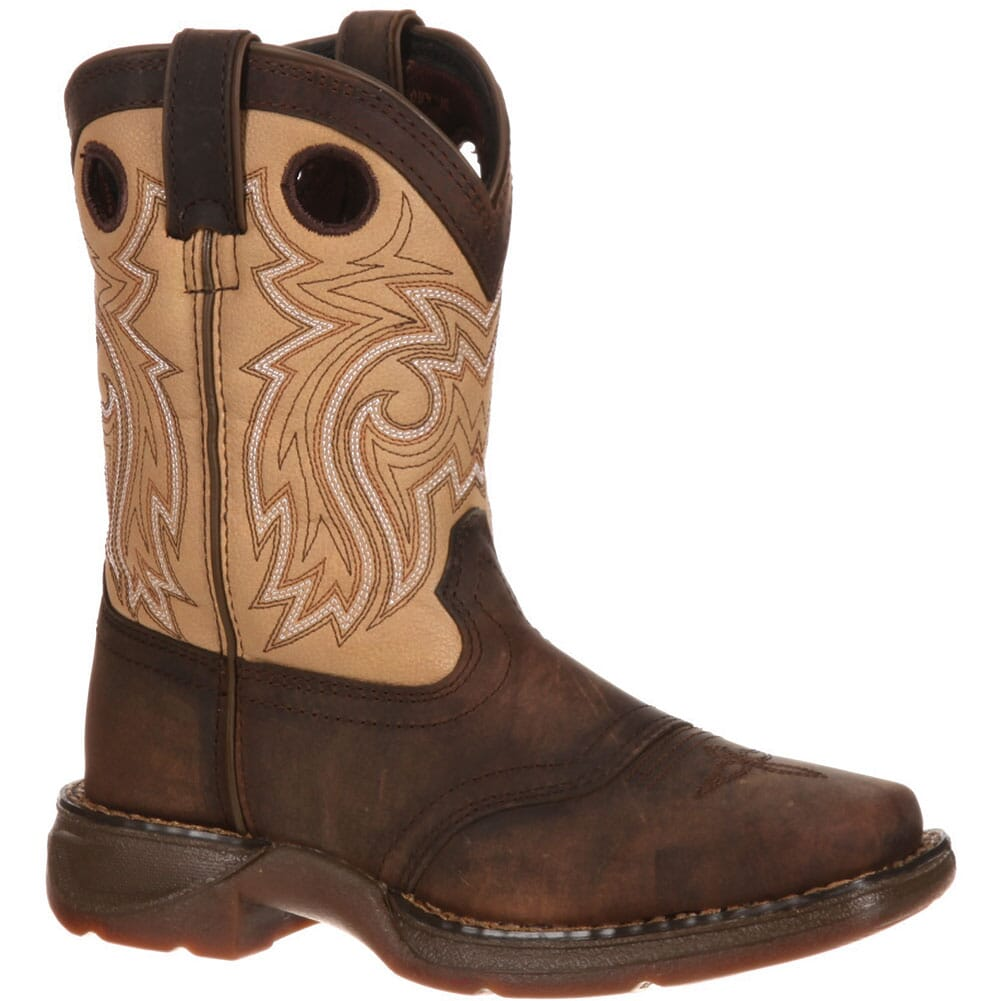 Image for Lil' Durango Little Kid Saddle Western Boots - Brown/Tan from bootbay